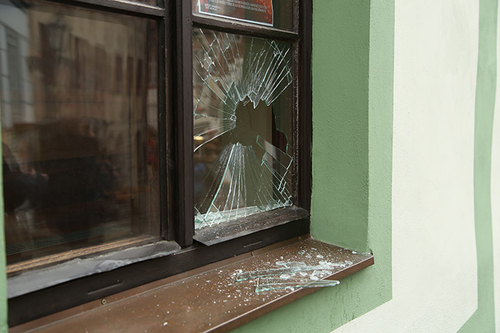 A2B Glass are able to board up broken windows while they are being repaired in Alsager.